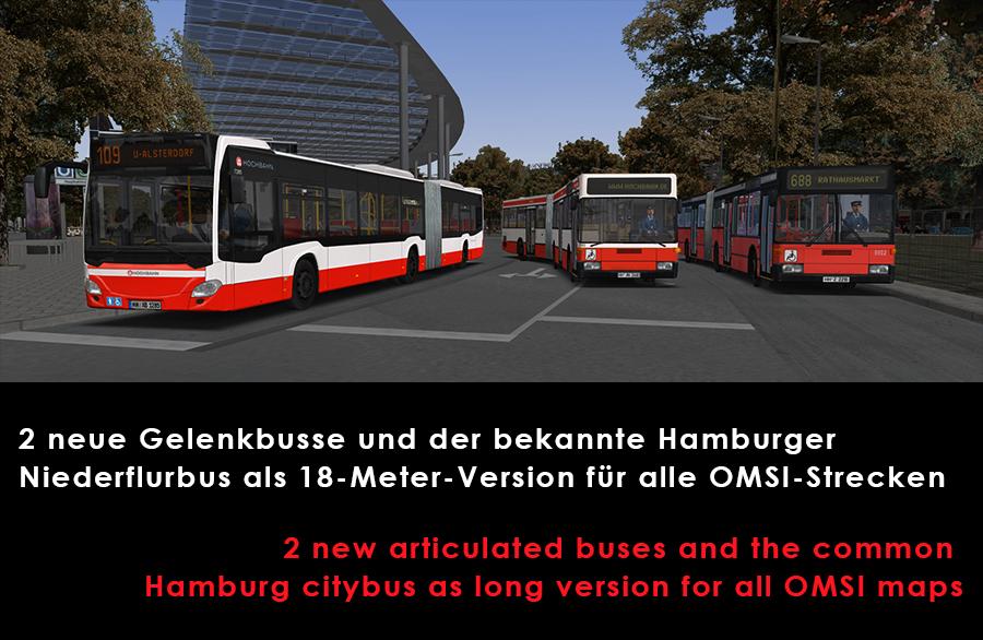 Drei Generationen - Gelenkbusse für OMSI2